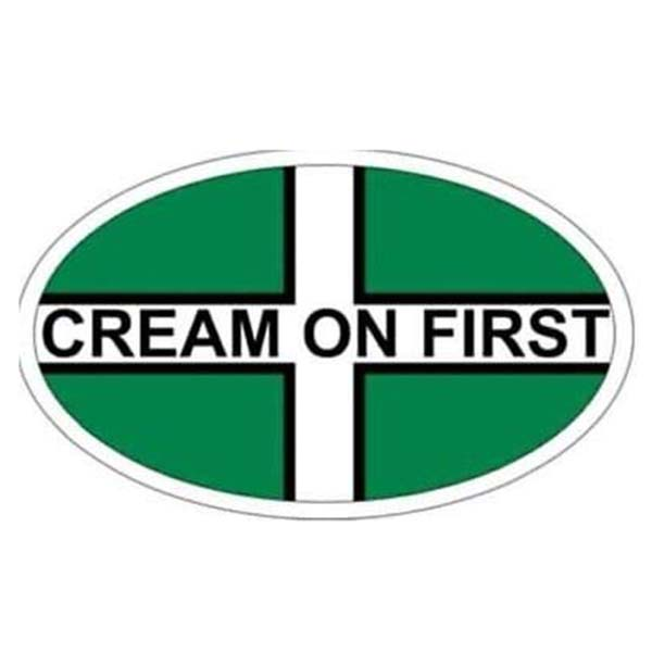 Cream on First Window Sticker