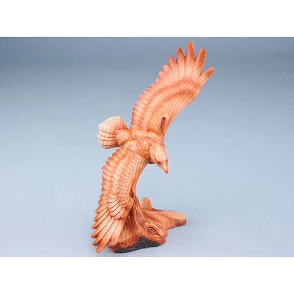 Wood Effect Flying Eagle - 20cm