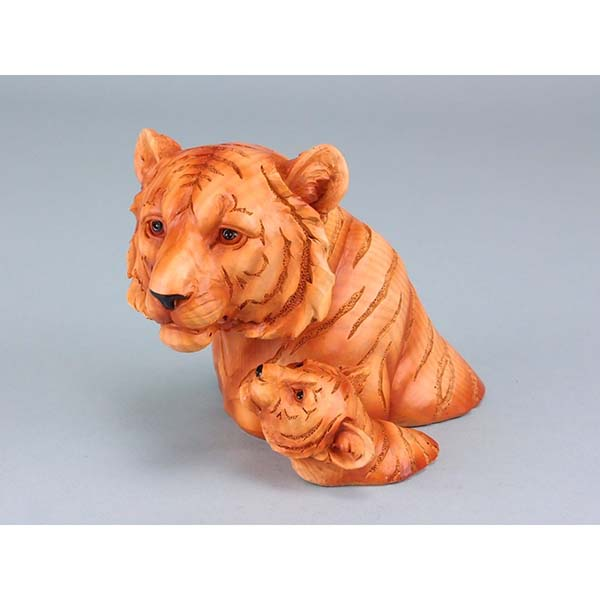 Wood effect double tiger head