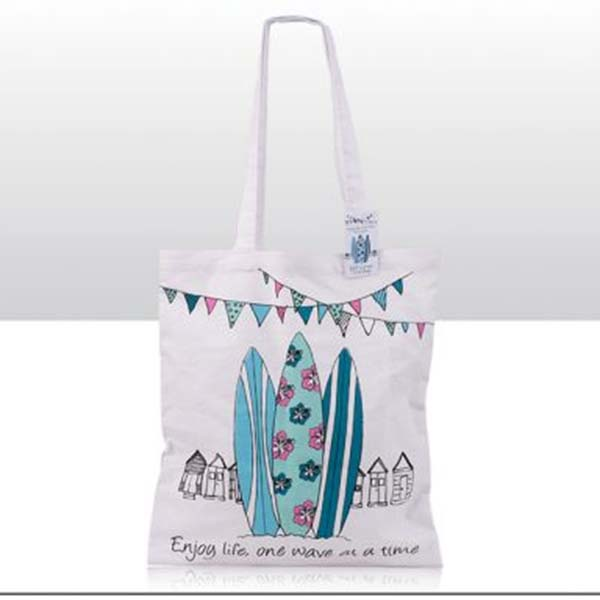Surfboard Enjoy Life Cotton Tote Bags
